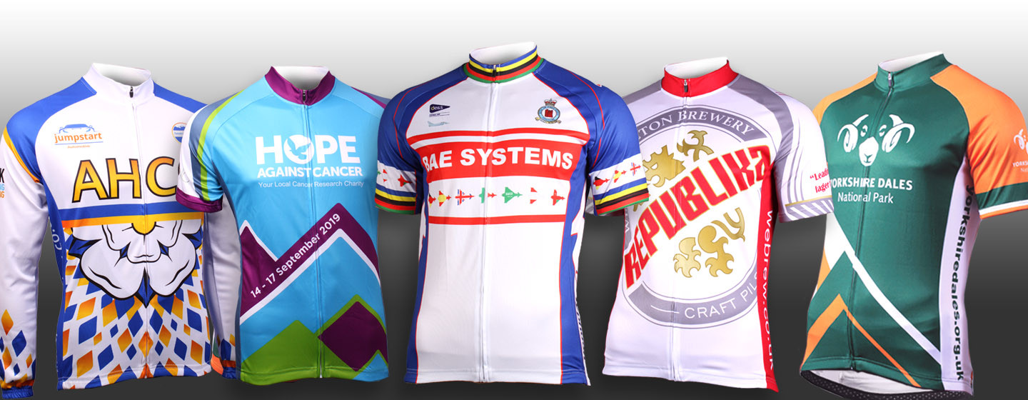 custom designed cycle jerseys and cycle wear for clubs, events, charities, brands and businesses